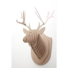 Декоративная голова оленя из картона