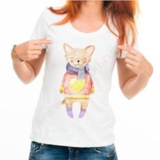Женская футболка Собачка в свитере