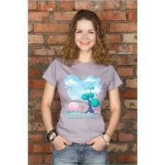 Женская футболка с вашим текстом Слон