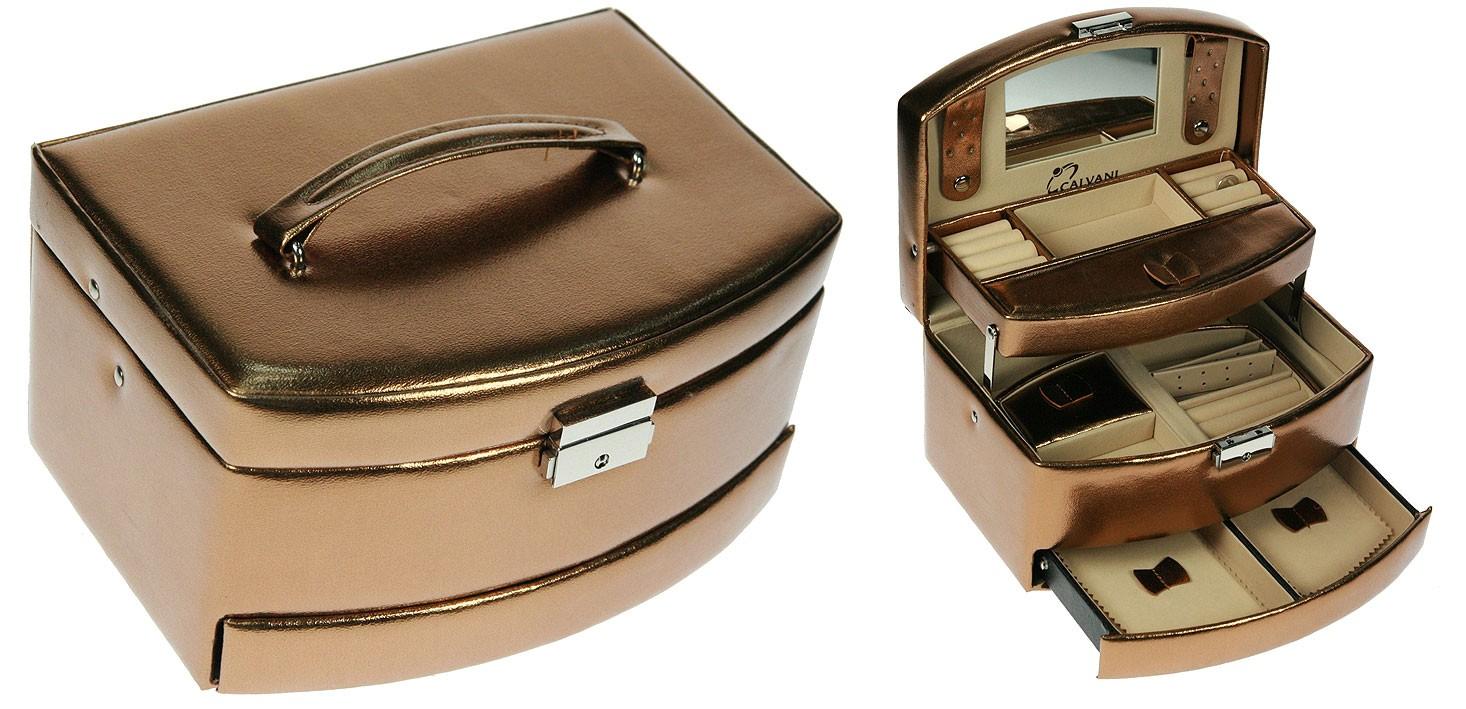 Шкатулка для ювелирных украшений CALVANI с эффектом металлик