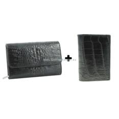 Женский кошелек и обложка для паспорта из крокодиловой кожи