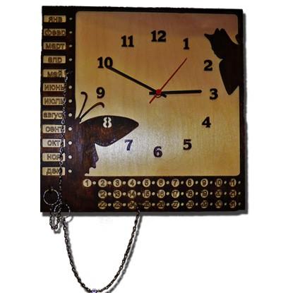 Деревянные настенные часы «Вечный календарь»