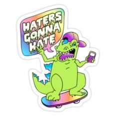 Виниловый стикер Hatters gonna hate