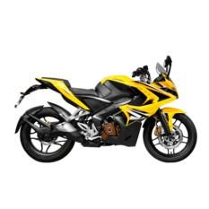 Мотоцикл Bajaj Pulsar 200RS, желтый