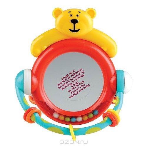 Игрушка-погремушка Happy Baby Мишка с зеркальцем