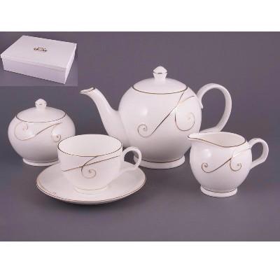 Чайный сервиз на 6 персон Белый