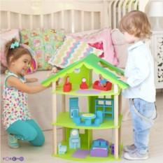 Трехэтажный домик для кукол Фиолент