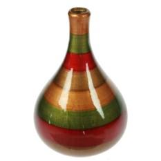 Декоративная ваза с полосками разных цветов