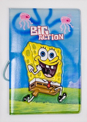Обложка для паспорта Веселый Спанч Боб