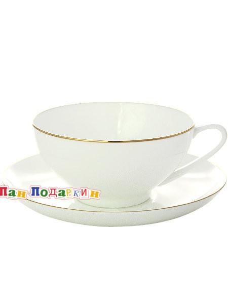 Чайный сервиз форма Купольная с рисунком Золотая лента