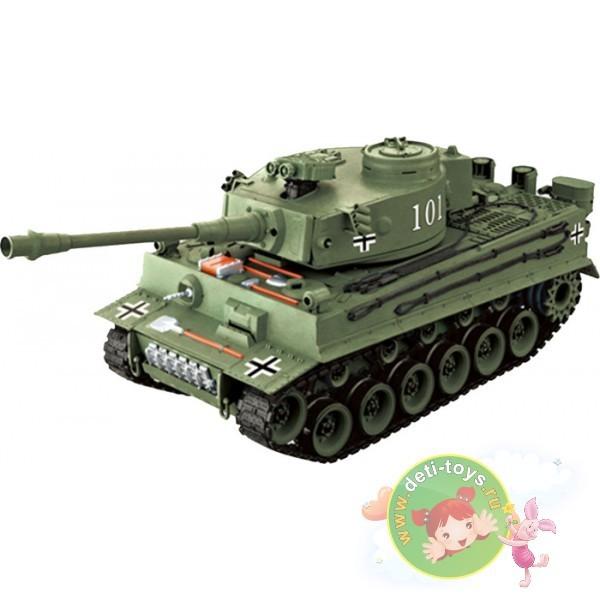 Зеленый радиоуправляемый танк German Tiger