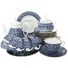 Сервиз чайный фарфоровый, рисунок Незабудка