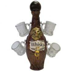 Бутыль для виски Пуля с 4 рюмками