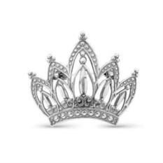 Серебряная брошь Корона