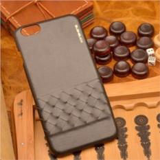 Черный кожаный чехол-накладка для iPhone 6S Plus/6 Plus