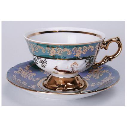 Чайный набор на 6 персон «Зелёная охота»