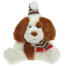 Мягкая игрушка в свитере и шапке Собака (38 см)