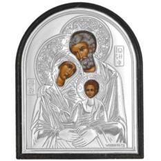 Святое семейство. Маленькая серебряная икона.