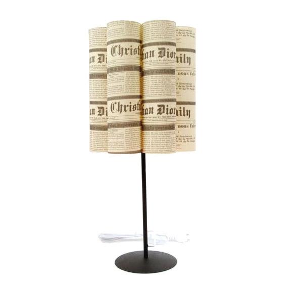 Лампа «Газетные страницы»
