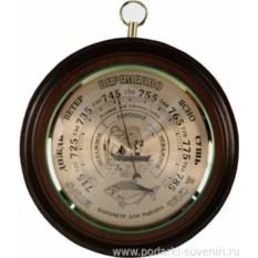 Круглый барометр Рыбак