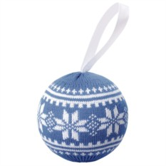 Новогодний шар «Скандик» (цвет — серо-синий)