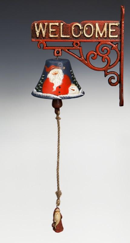 Рождественский синий металлический колокол