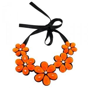 Колье-воротник Bright flowers (оранж)