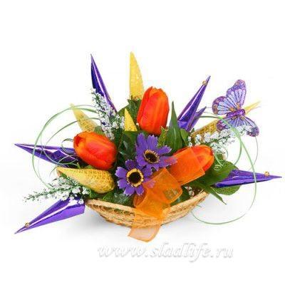 Букет из цветов Тюльпанчики