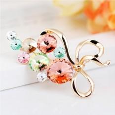 Брошь с кристаллами Сваровски «Для тебя»