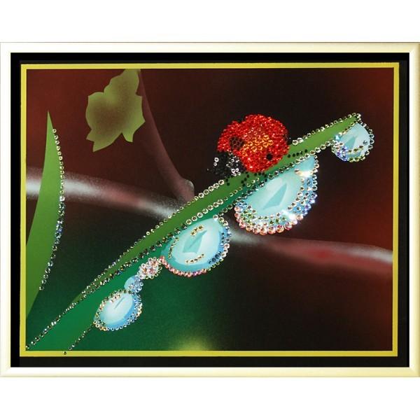 Картина с кристаллами Swarovski Утренняя роса