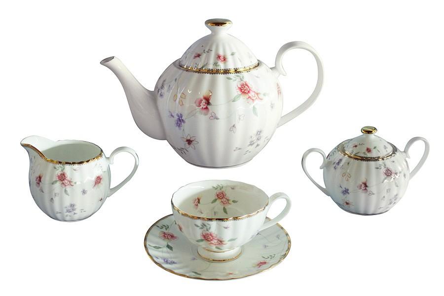 Чайный сервиз Флер из 15 предметов на 6 персон