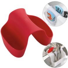 Красный органайзер для раковины Saddle