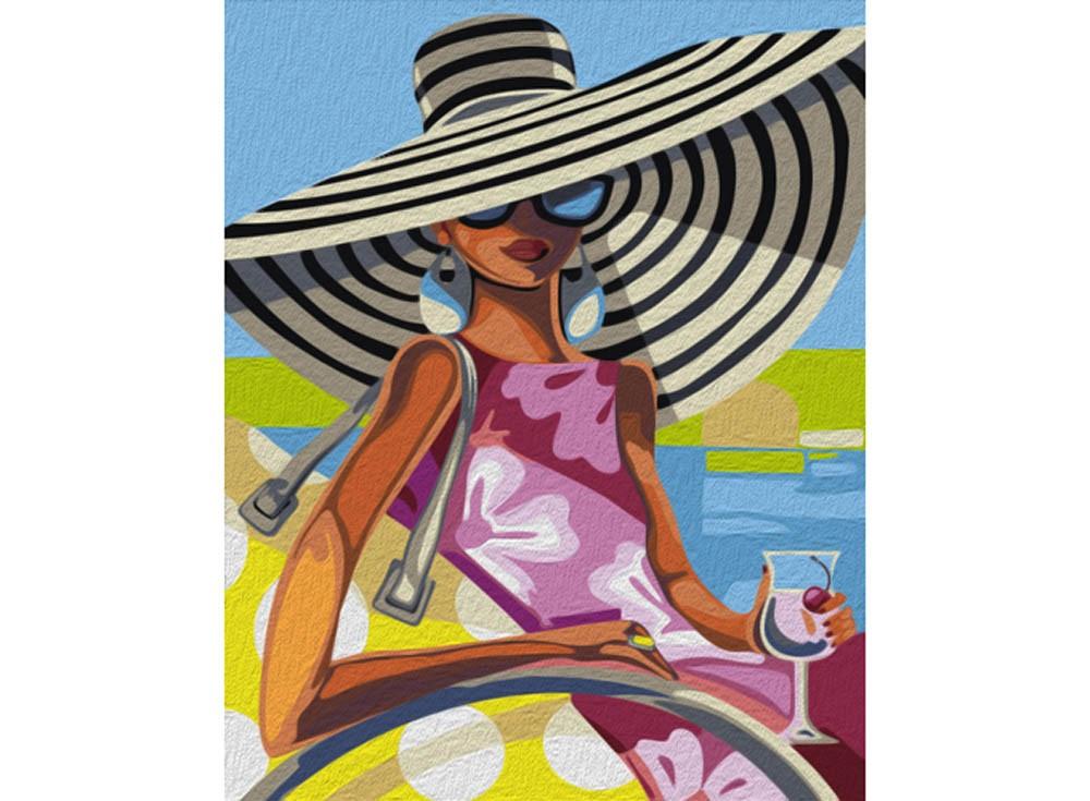 Картины по номерам «Пляжная красотка»