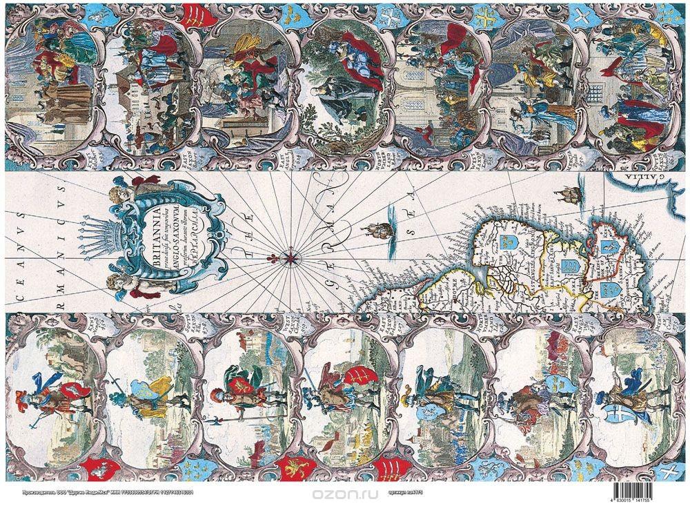 Рисовая карта для декупажа Сражение, формат А3