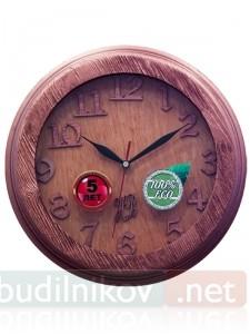 Настенные деревянные часы, в рамке
