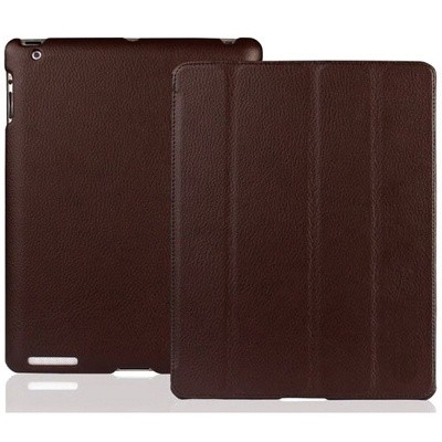 Кожаный чехол Jison Smart case brown