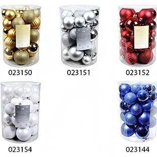 Набор однотонных шаров на елку Новогодняя коллекция