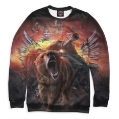Свитшот Print Bar Медведь и танк