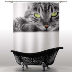 Шторка для ванны Кошка