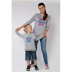 Комплект серых толстовок Nevada для мамы и ребенка