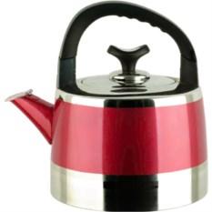Красный металлический чайник на 2,2 л Bekker