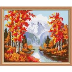 Картина по номерам Осенний лес