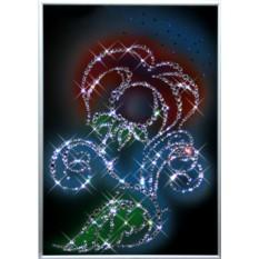 Картина с кристаллами Сваровски Цветок