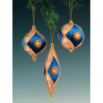 Набор елочных украшений «Элегантный синий»