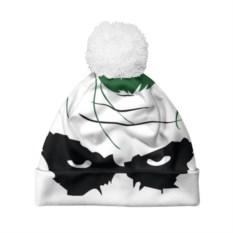 Белая шапка c помпоном Маска Джокера