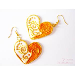 Серьги «Золотое сердце»