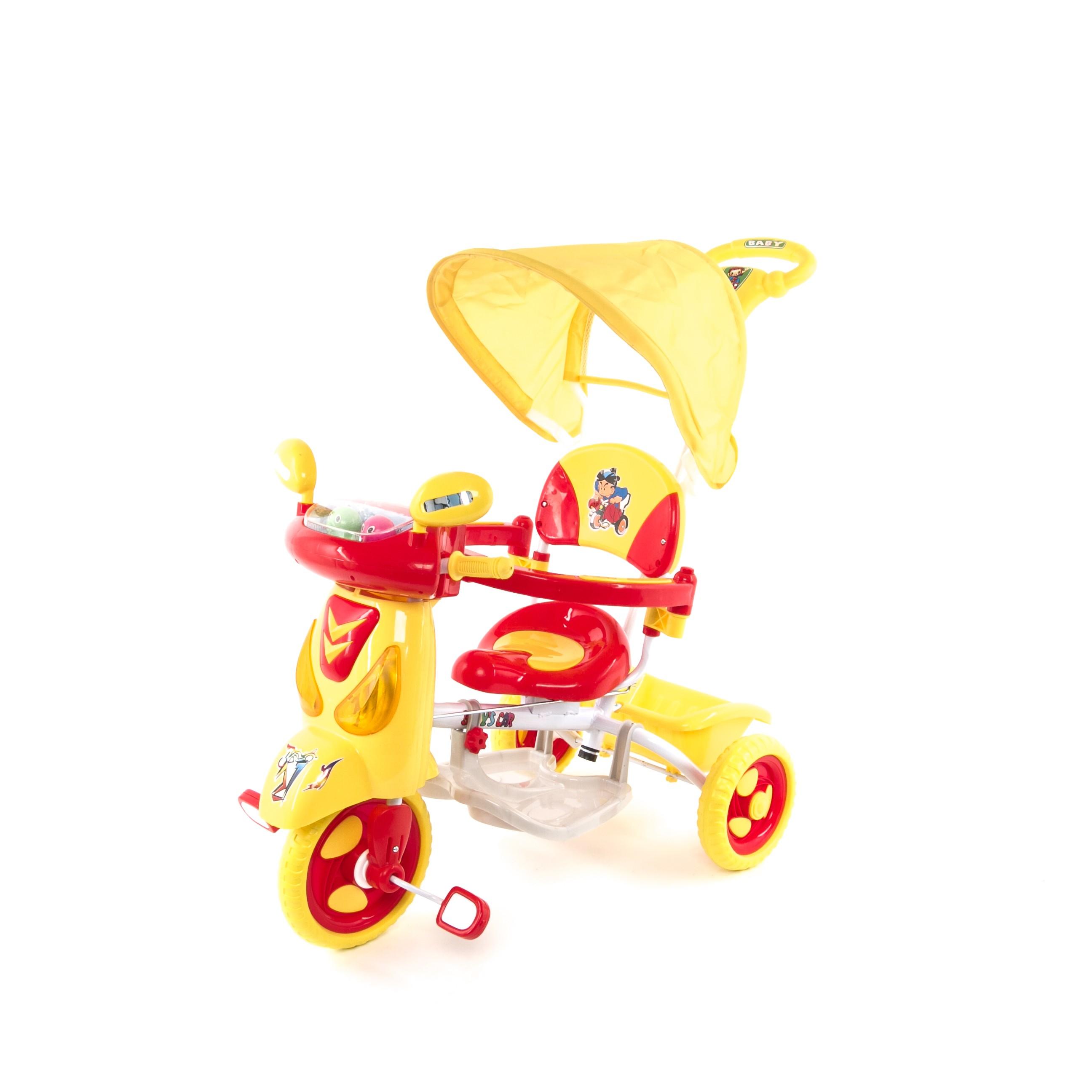 Велосипед Elit, цвет: желтый/красный