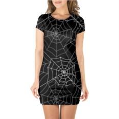 Платье с короткими рукавами Паутинка