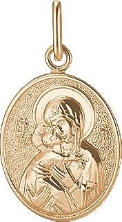 Подвеска Владимирская икона Божьей Матери