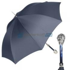 Мужской зонт-трость Pasotti Leone Silver StripesS Dark blu